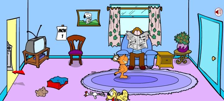 Игра Гарфилд бродилка онлайн