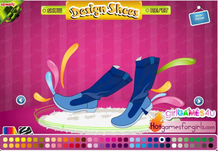 Игра Дизайнер обуви онлайн