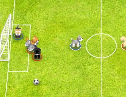 Игра Звериный футбол онлайн