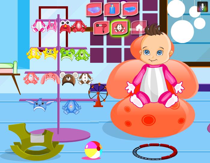 Игра Малыш в ванной онлайн