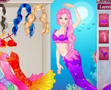Игра Одевалка Барби русалка онлайн