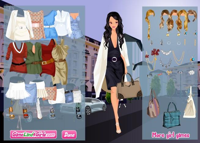 Игра Одевалка весенняя мода онлайн