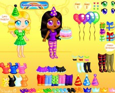 Игра Одевалка в день рождения онлайн