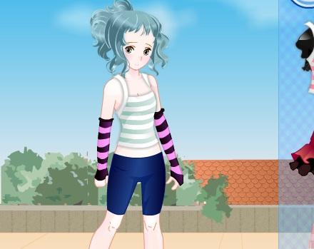 Игра Одевалка девочка аниме онлайн