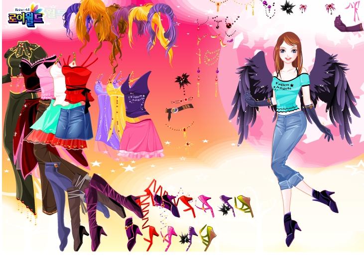Игра Одевалка девушка ангел онлайн
