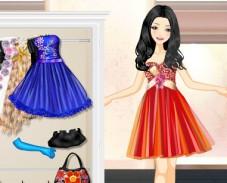 Игра Одевалка короткие платья онлайн
