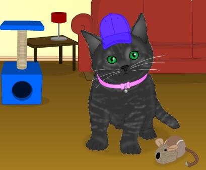 Игра Одевалка котёнок онлайн