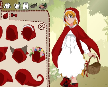 Игра Одевалка красная шапочка онлайн