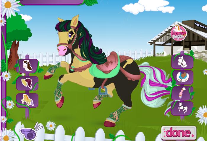 Игра Причёска для лошади онлайн