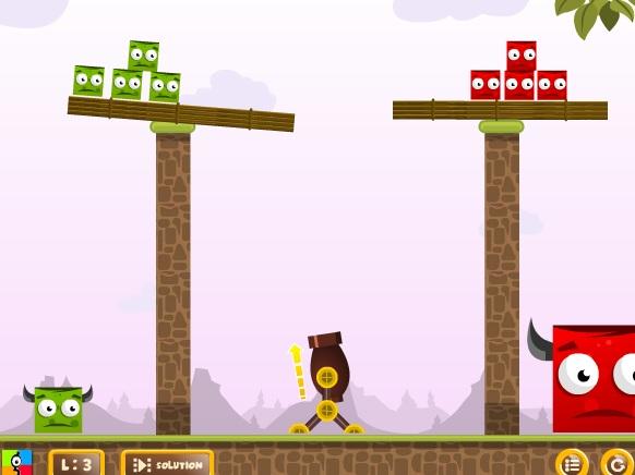 Игра Разноцветные кубики онлайн