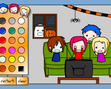 Игра Раскраска Хэллоуин онлайн