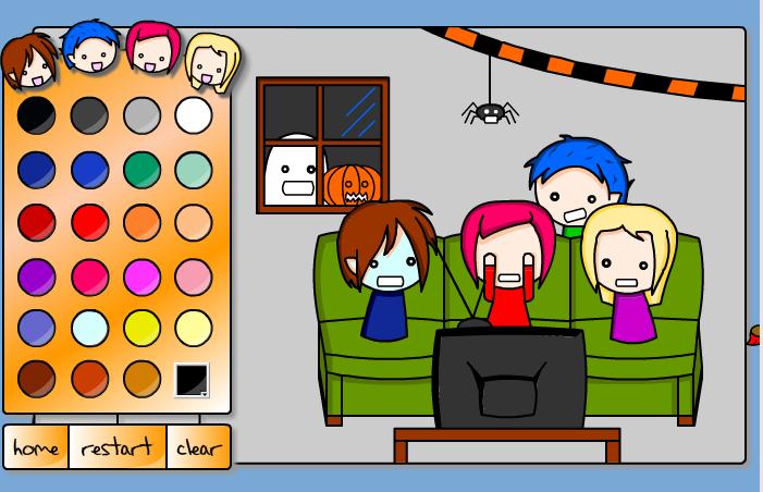Игра Раскраска Хэллоуин - играй онлайн