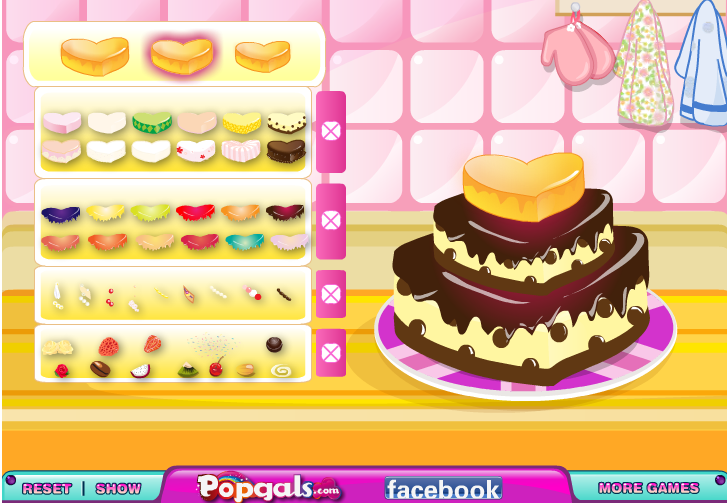 Игра Свадебный торт онлайн