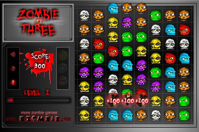 Игра Три зомби онлайн