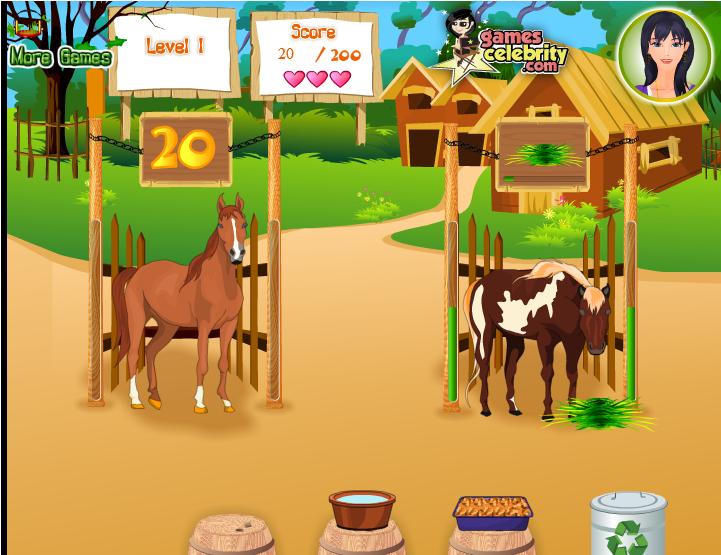 Игра Уход за лошадьми онлайн