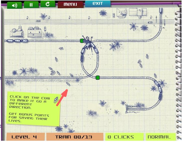 Игра Бумажный поезд онлайн