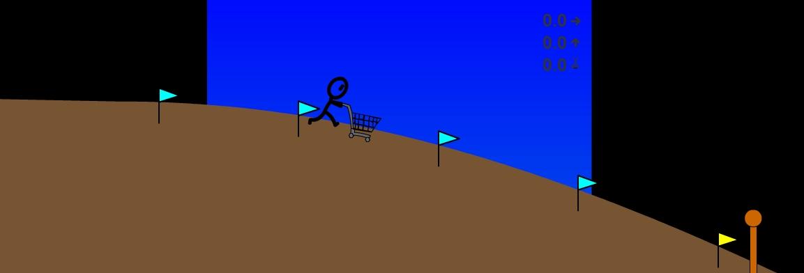 Игра Герой с тележкой онлайн