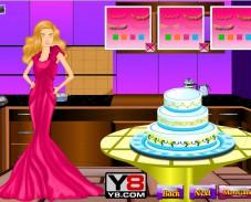 Игра Готовим торт для Барби онлайн