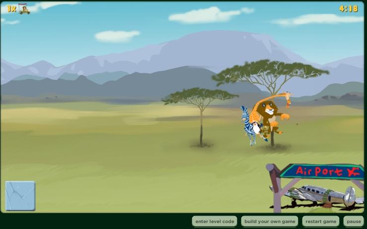 Игра Лев Алекс Мадагаскар онлайн