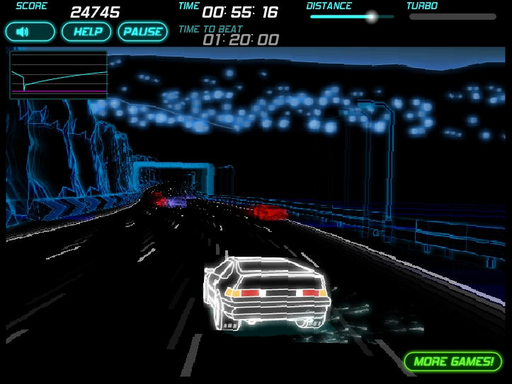 Игра Неоновая гонка 2 онлайн