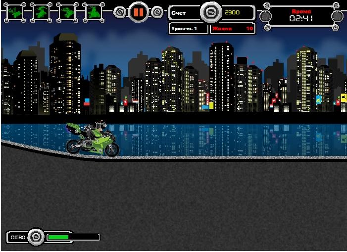 Игра Ниндзя байкер онлайн