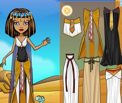 Игра Одевалка Клео де Нил онлайн