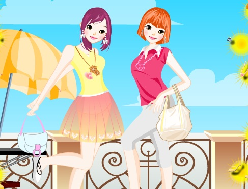 Игра Одевалка мода для двоих онлайн