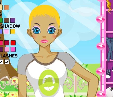 Игра Одевалка модная девушка онлайн
