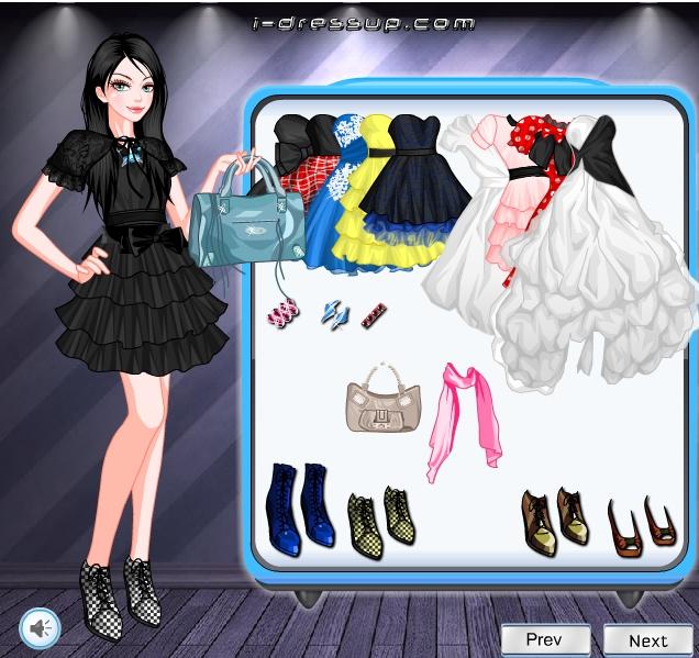 Игра Одевалка пышные платья онлайн