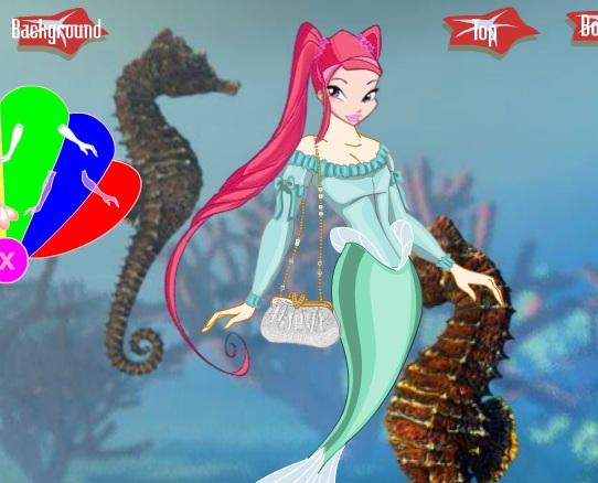 Игра Одевалка русалка Винкс - играй онлайн