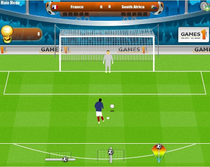 Игра Пенальти на Чемпионате Мира 2010 онлайн