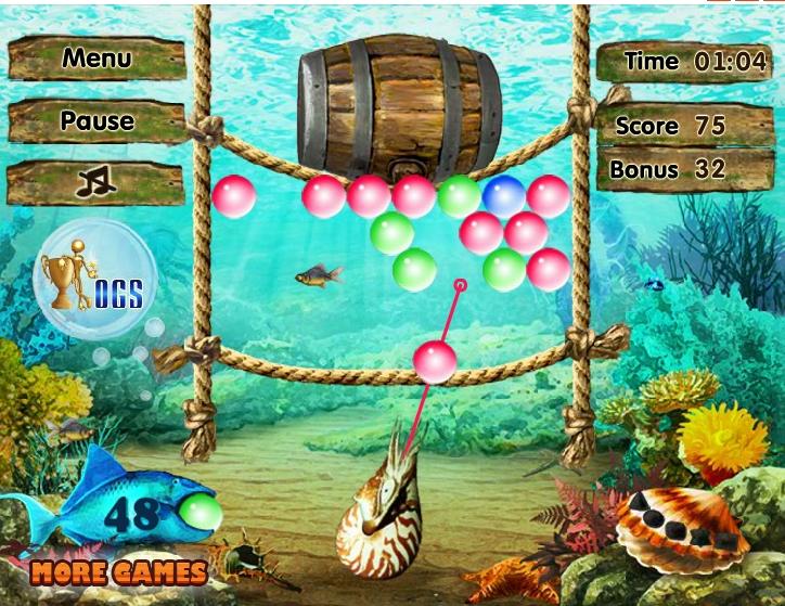Игра Подводные сокровища онлайн