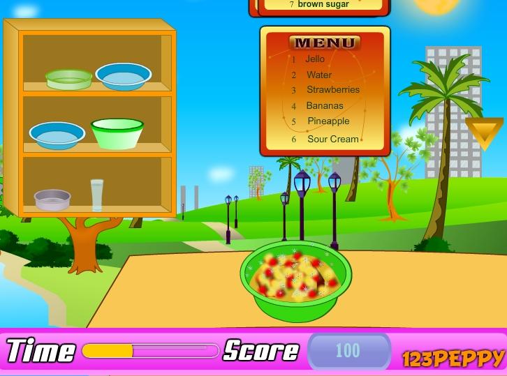 Игра Приготовление салата онлайн