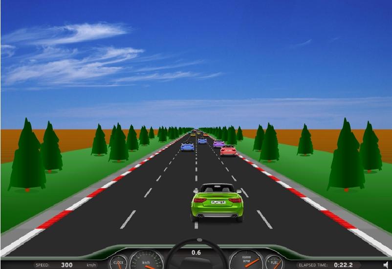Игра Путешествие по шоссе онлайн