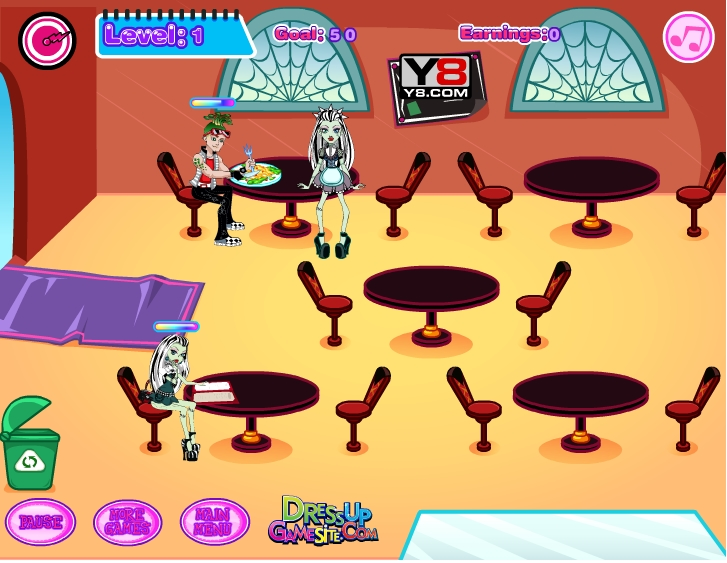 Игра Ресторан Монстр Хай онлайн