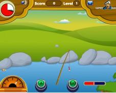 Игра Рыбалка на озере онлайн