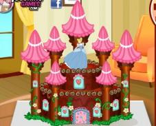 Игра Торт принцесса и замок онлайн