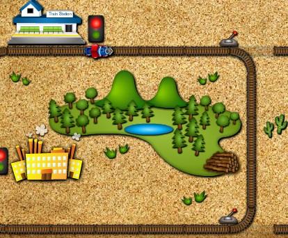 Игра Управляющий поезда онлайн