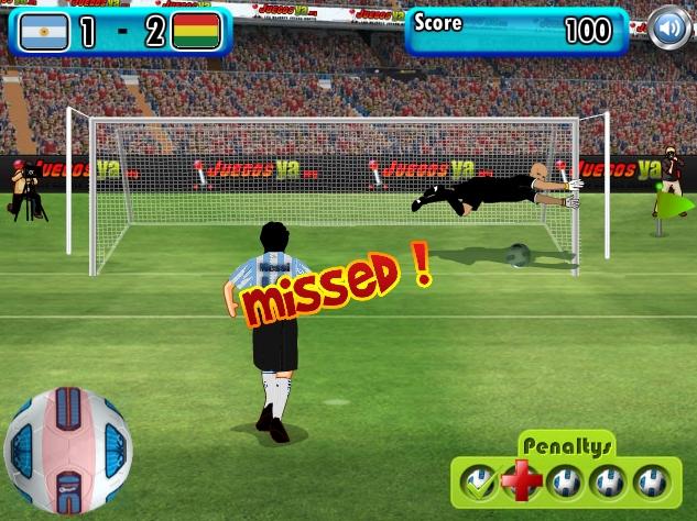 Игра Футбол бьем пенальти онлайн