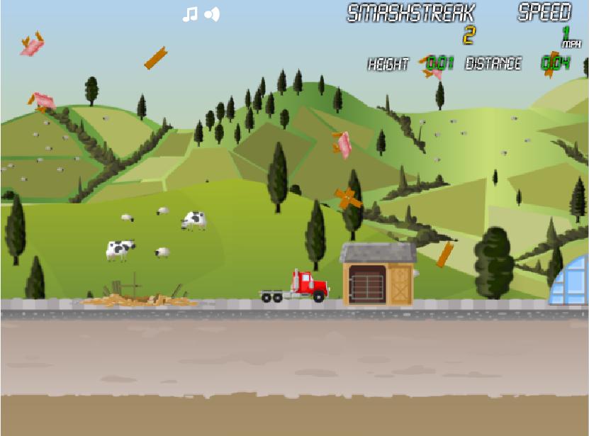 Игра Грузовик разрушитель онлайн