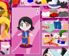 Игра Одевалка аниме чиби онлайн