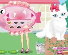 Игра Одевалка новая кошка Евы онлайн
