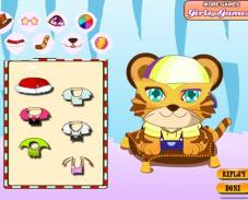 Игра Одевалка тигренок онлайн