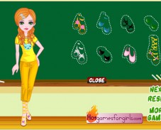 Игра Одевалка школьные модницы онлайн