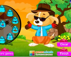 Игра Одевалка щенок онлайн