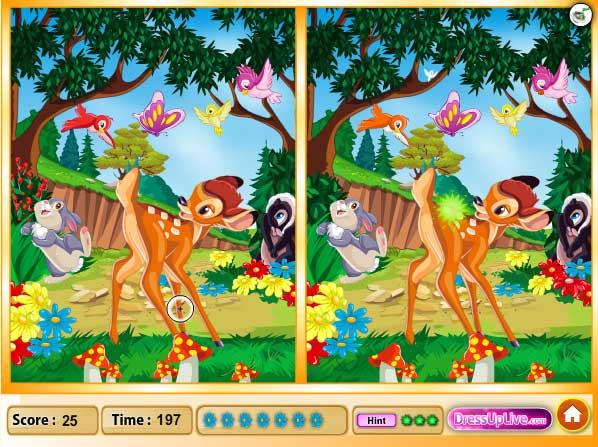 Игра Бемби и лесные приключения онлайн