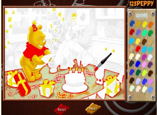 Игра Вини и день Рождения онлайн