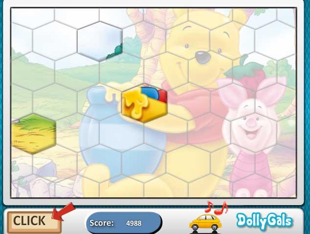 Игра Винни Пух, Пятачок и горшочек мёда онлайн
