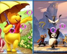 Игра Винни Пух и Кунг фу Панда онлайн