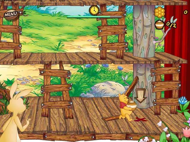 Игра Винни пух и бочка меда онлайн
